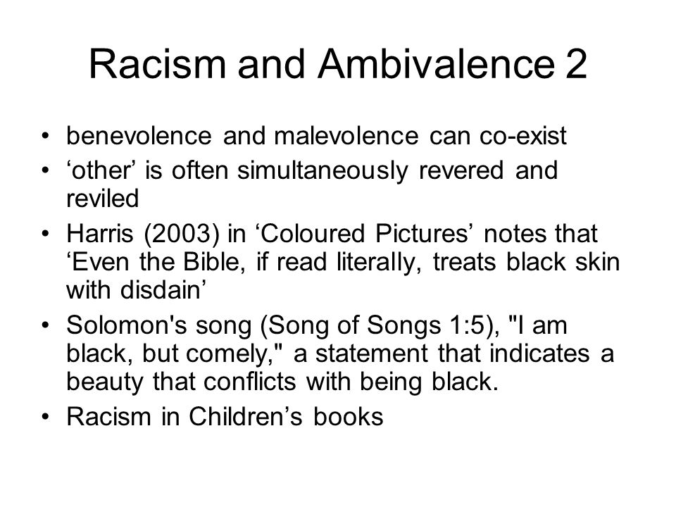 Racism and Ambivalence 2