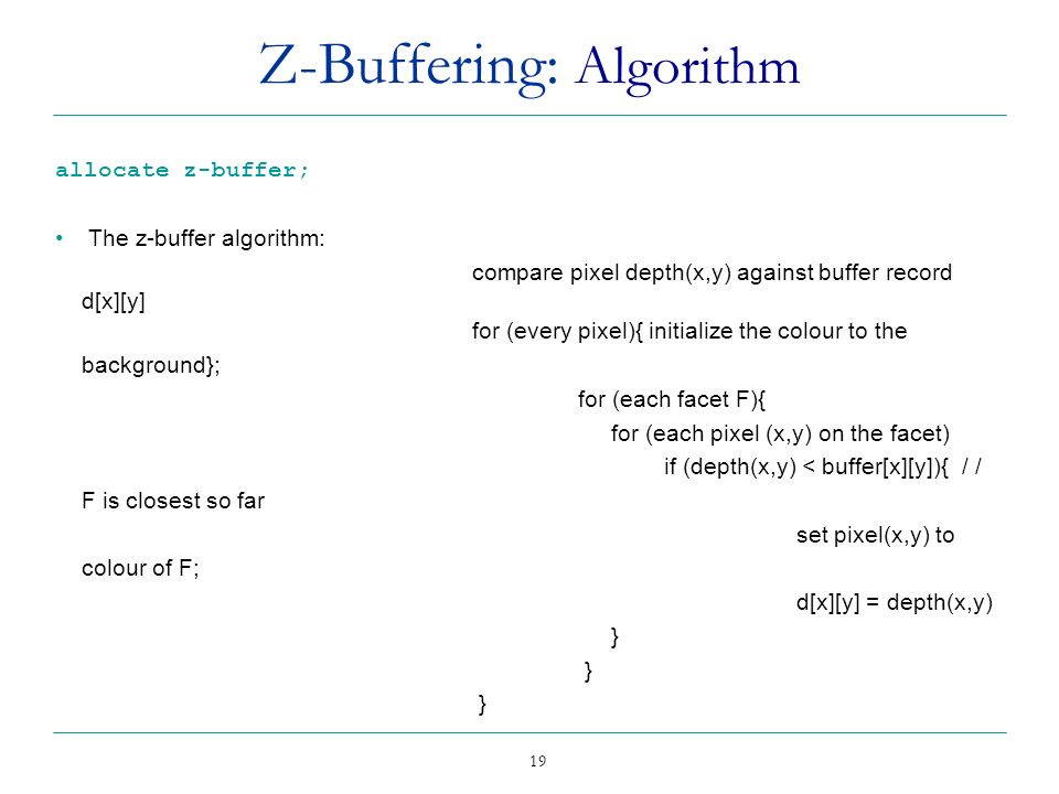 Z-Buffering: Algorithm