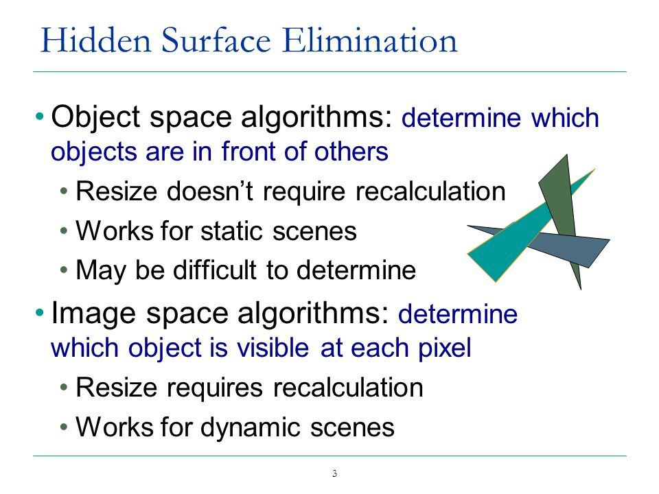 Hidden Surface Elimination