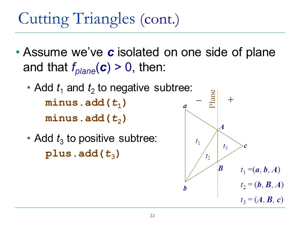Cutting Triangles (cont.)