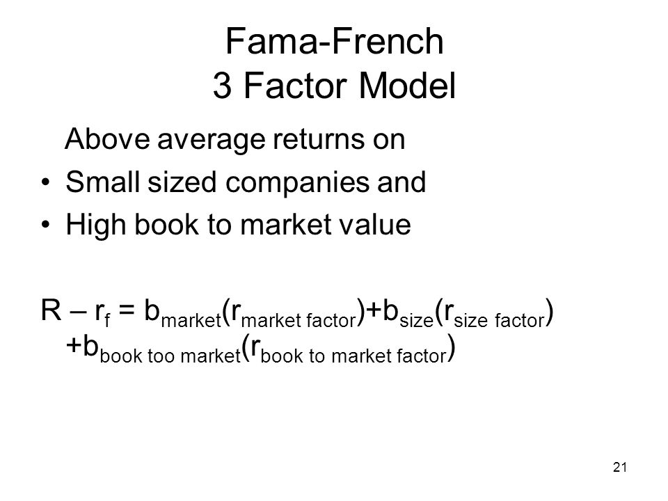 Fama-French 3 Factor Model