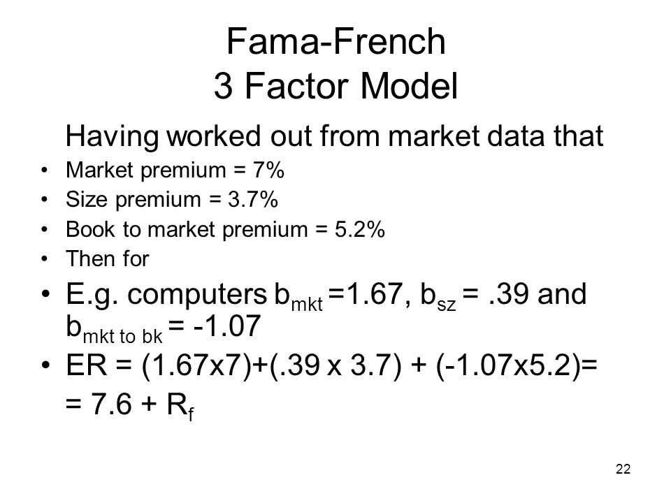 fama french three factor model