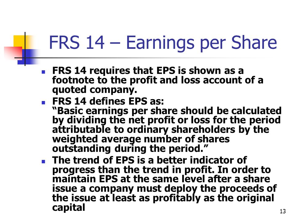 FRS 14 – Earnings per Share