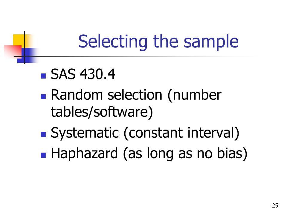 Selecting the sample SAS 430.4