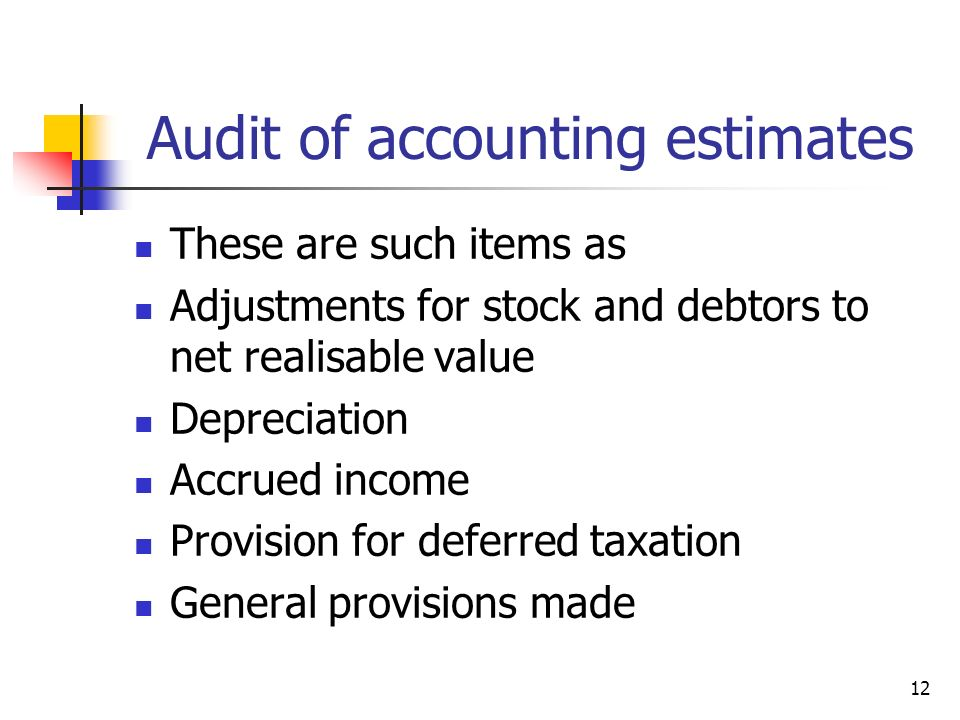 Audit of accounting estimates