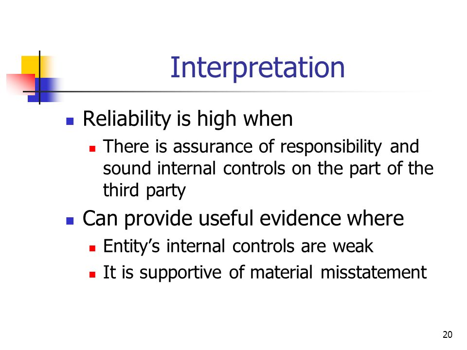 Interpretation Reliability is high when