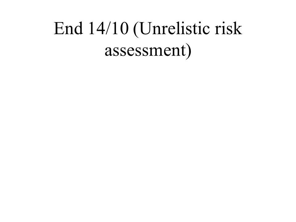 End 14/10 (Unrelistic risk assessment)