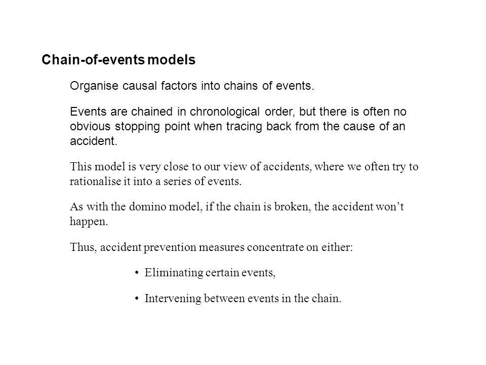 Chain-of-events models