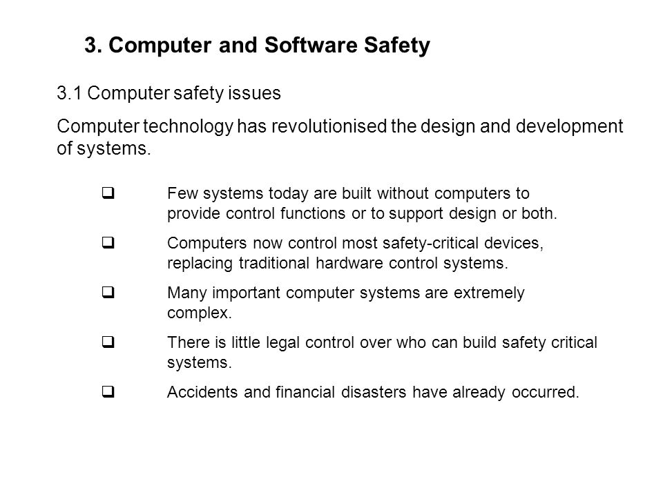 3. Computer and Software Safety