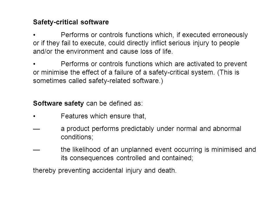 Safety-critical software