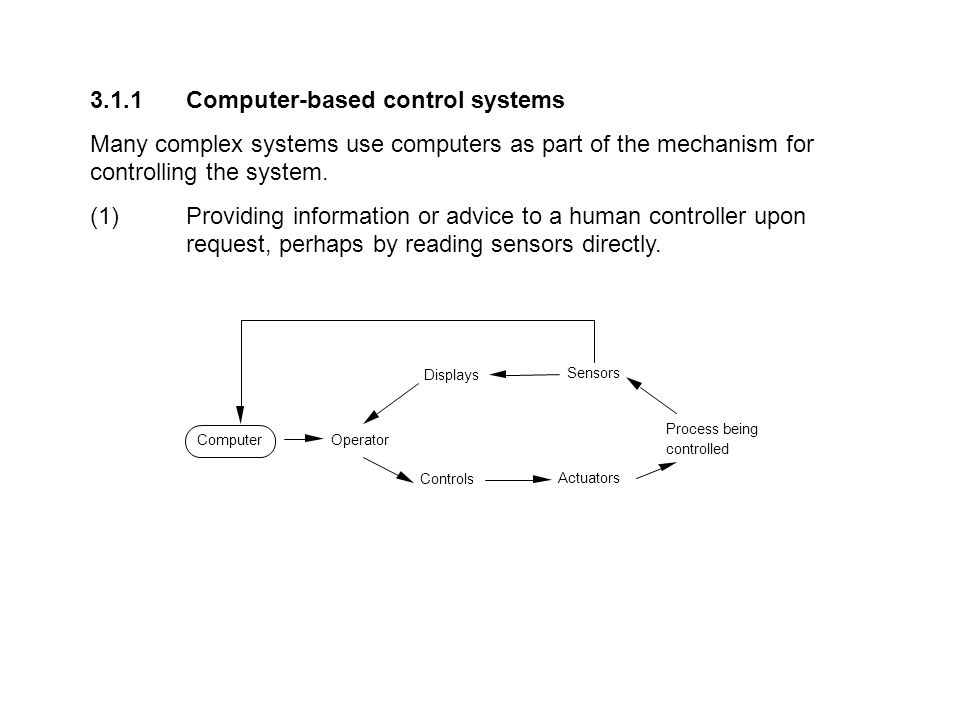 3.1.1 Computer-based control systems