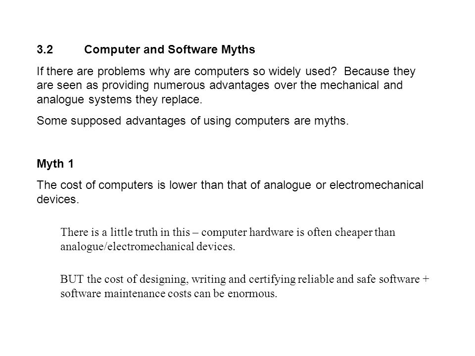 3.2 Computer and Software Myths