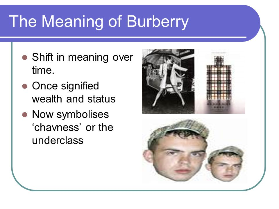 The Meaning of Burberry