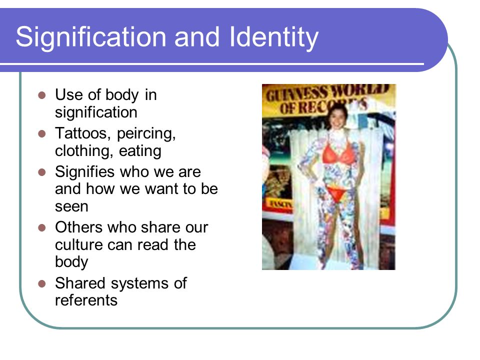 Signification and Identity