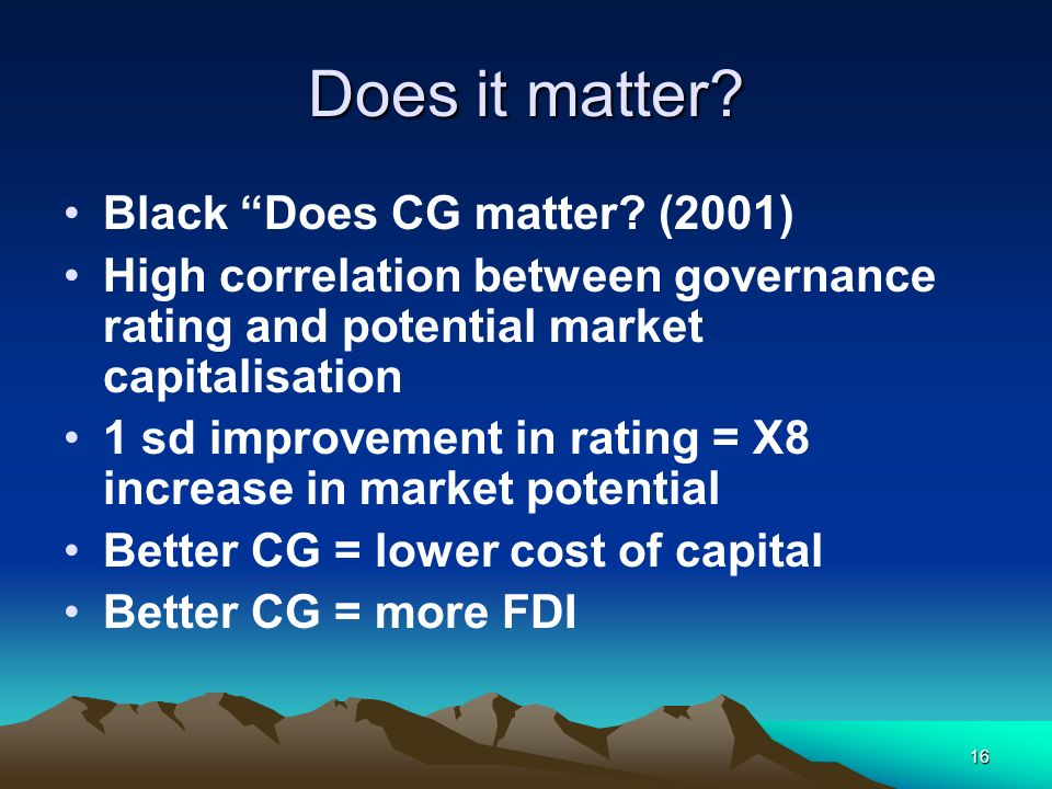 Does it matter Black Does CG matter (2001)