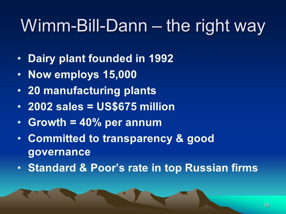 Wimm-Bill-Dann – the right way