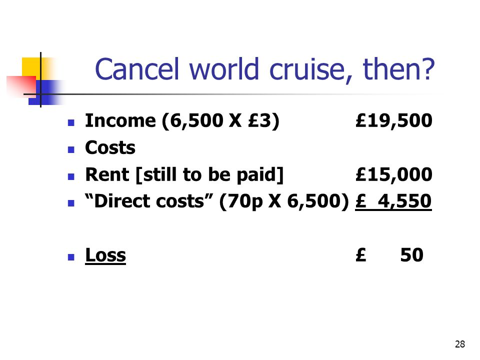 Cancel world cruise, then