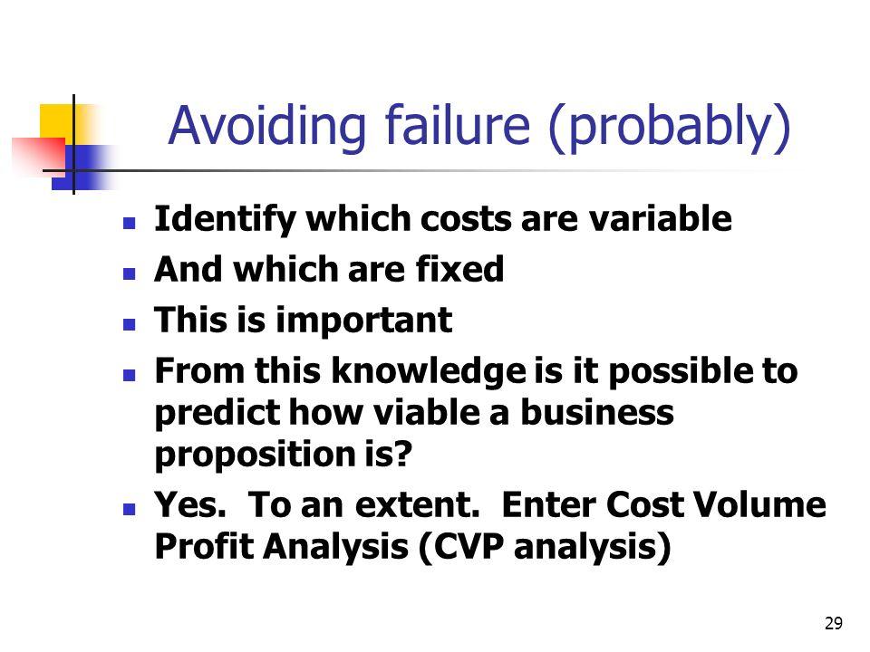Avoiding failure (probably)