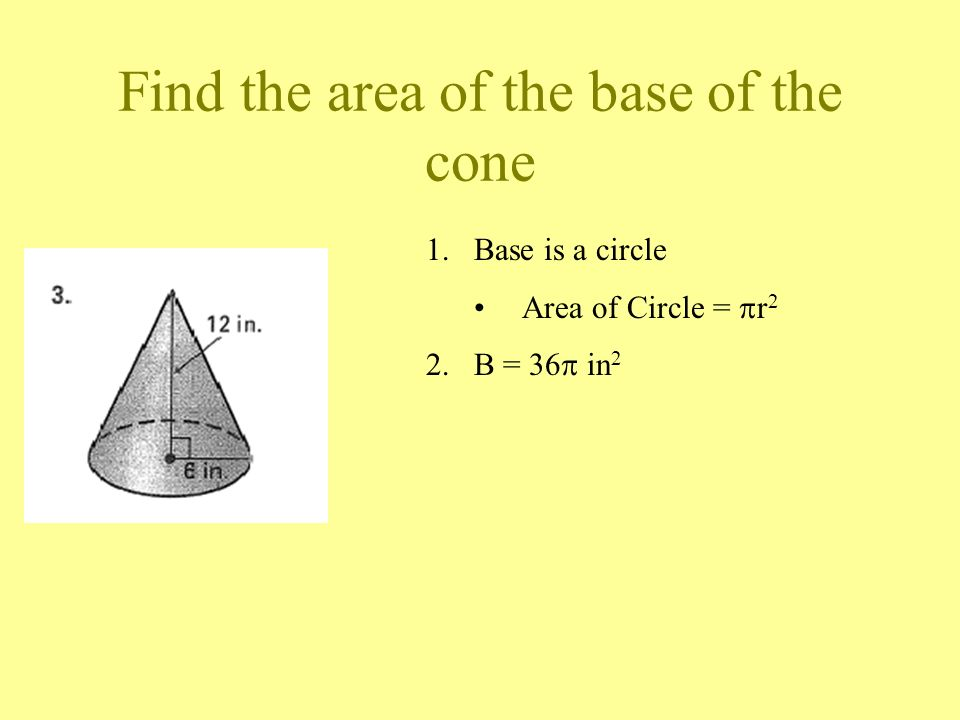 how to find the height of a cone