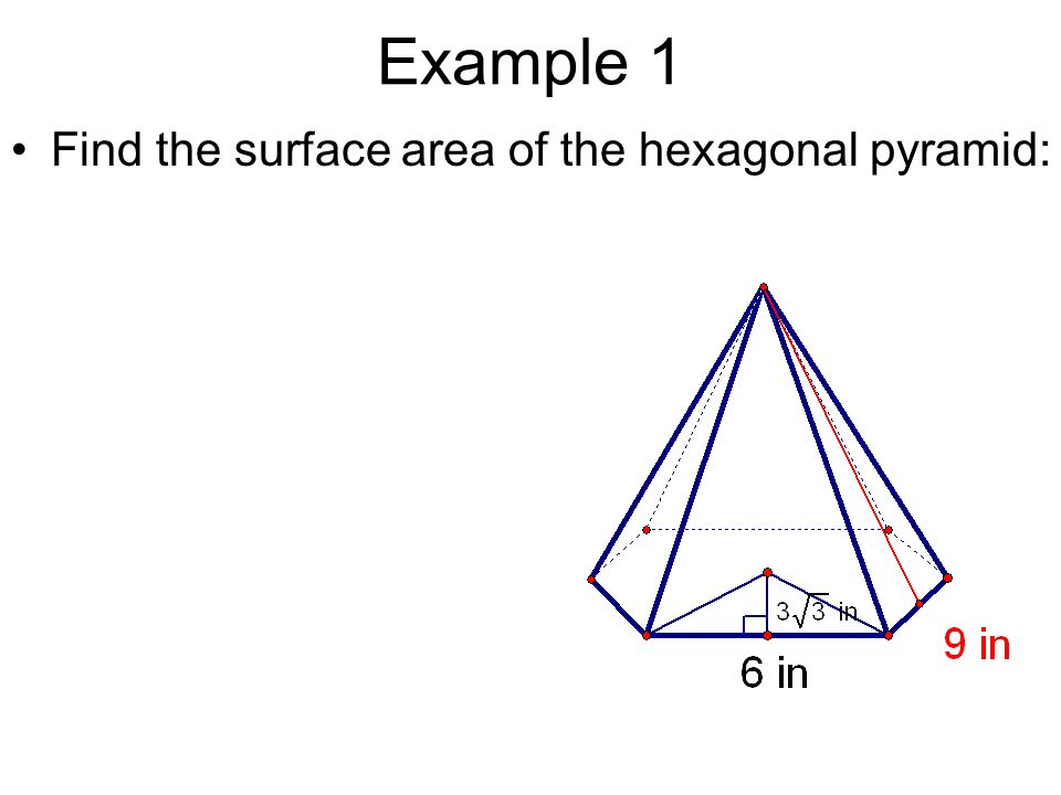 area of a hexagon