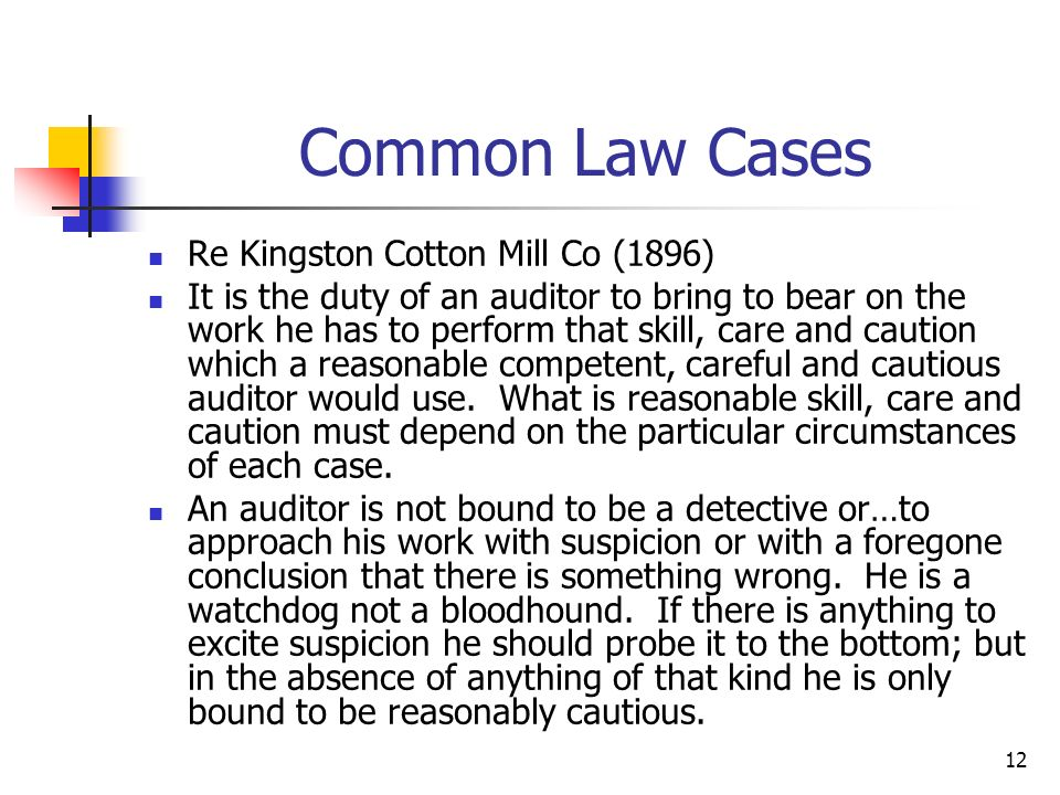 Common Law Cases Re Kingston Cotton Mill Co (1896)