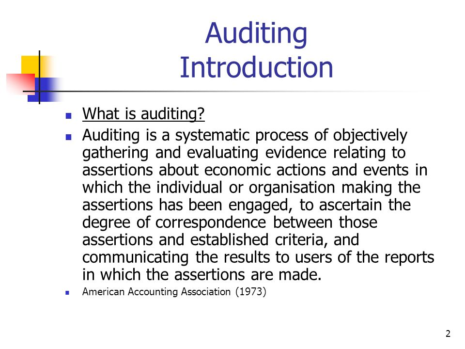 Auditing Introduction