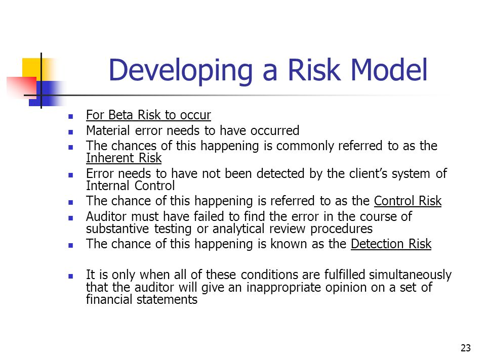 Developing a Risk Model