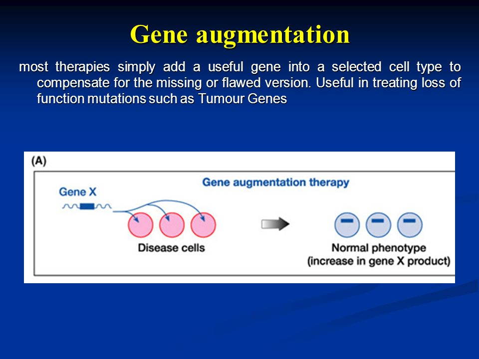 Gene augmentation