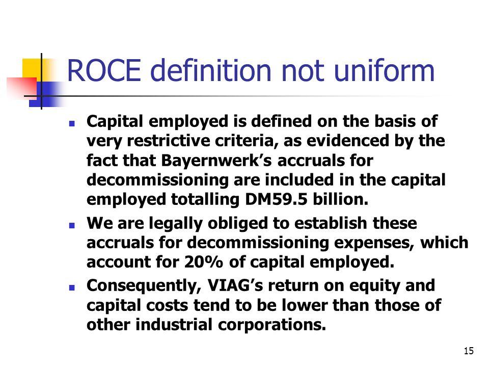 ROCE definition not uniform