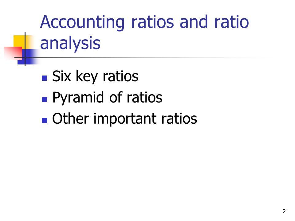 Accounting ratios and ratio analysis