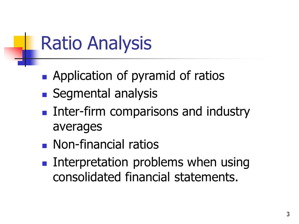 A Comparison of Financial Ratio to Industry Average