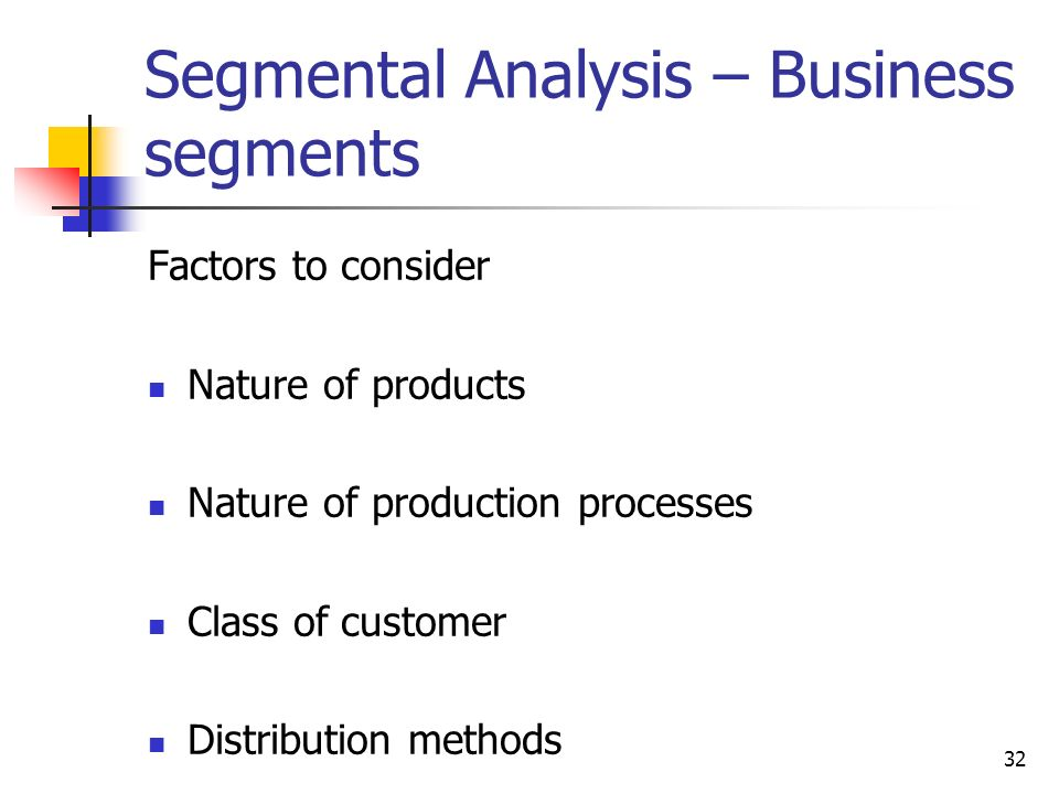 Segmental Analysis – Business segments