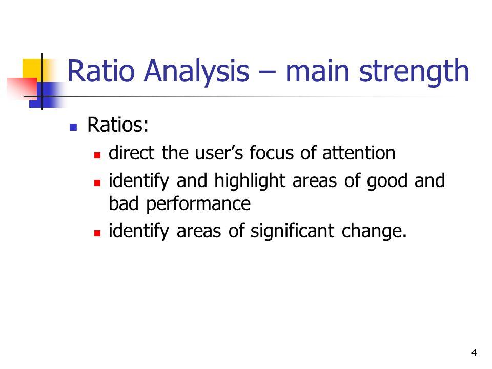 Ratio Analysis – main strength
