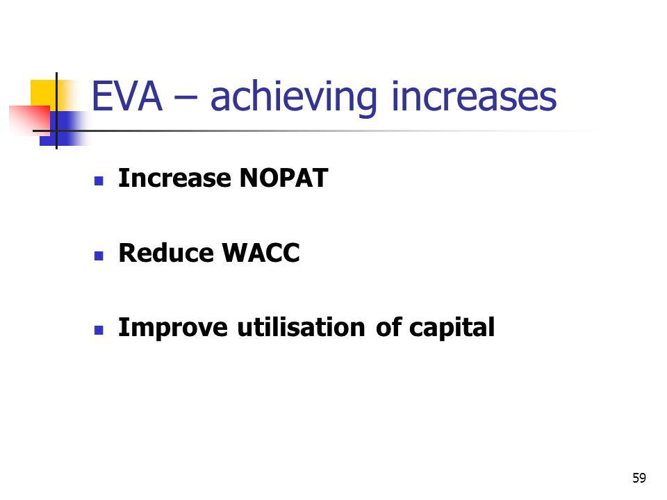 EVA – achieving increases