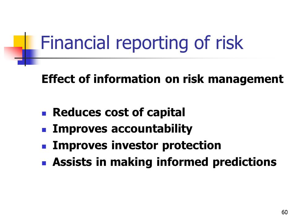 Financial reporting of risk