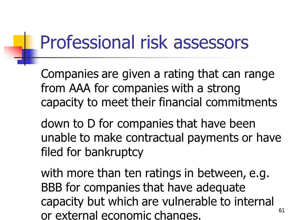 Professional risk assessors