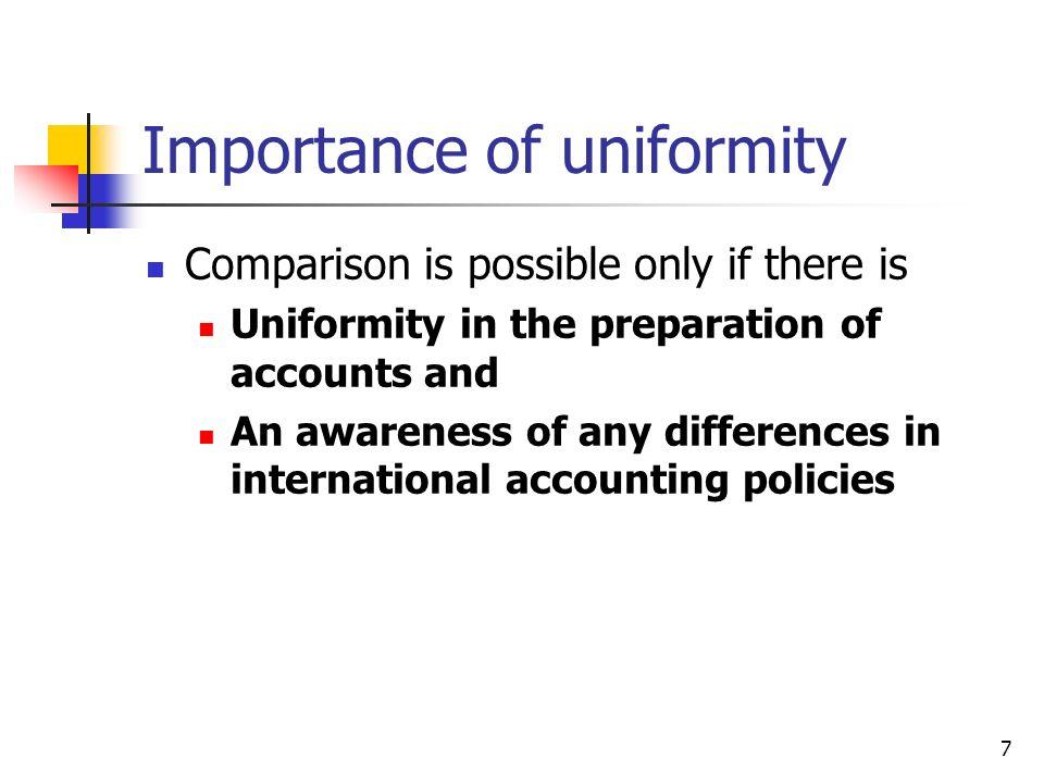 Importance of uniformity