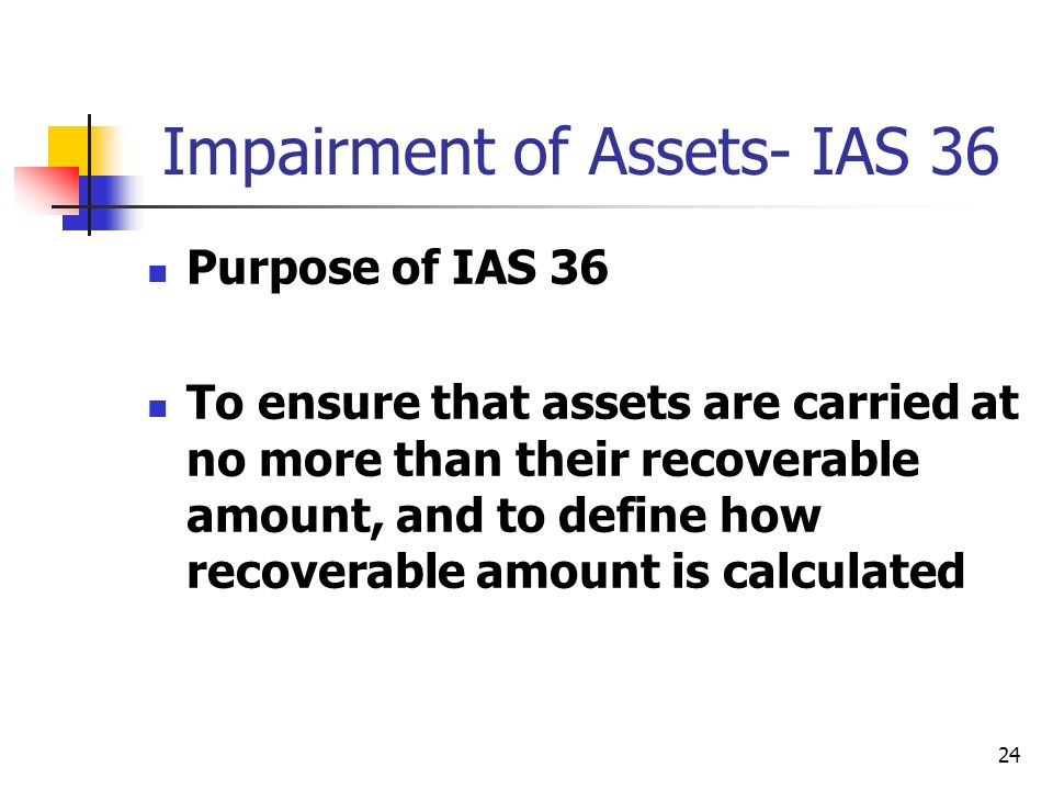Impairment of Assets- IAS 36