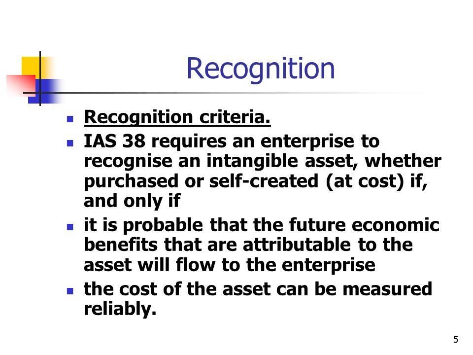 Recognition Recognition criteria.