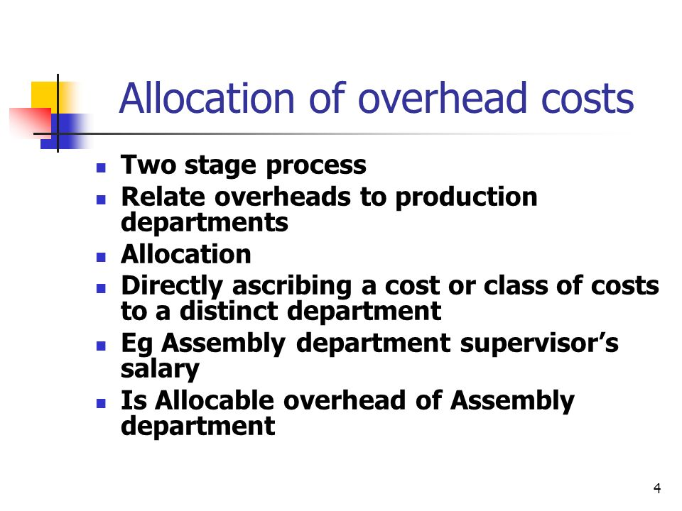 allocation of fixed costs In this assignment, you are going to review your organization and its treatment of allocated costs retrieve a report in the organization that allocates common costs to a division, product, or service.
