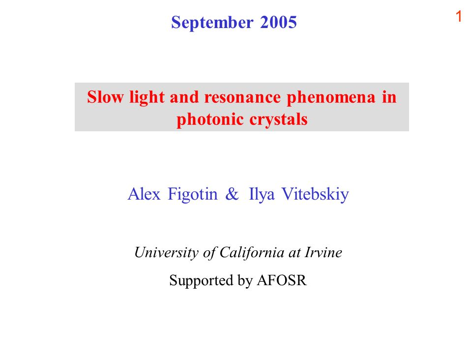 Slow light and resonance phenomena in photonic crystals