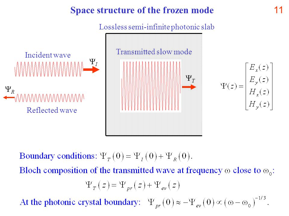 Space structure of the frozen mode