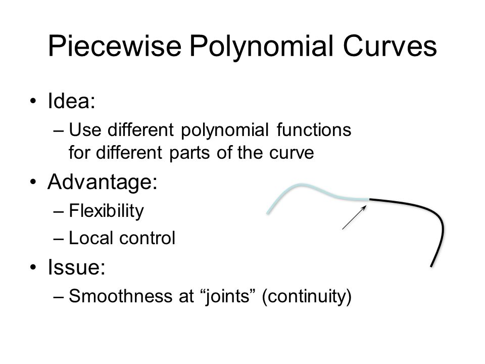 Piecewise Polynomial Curves