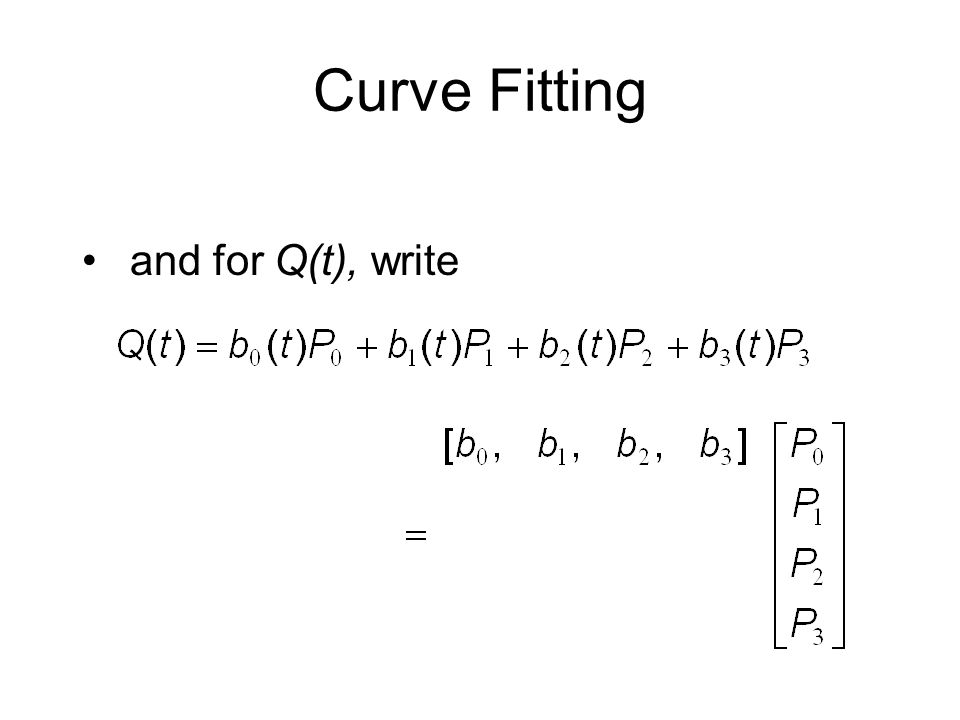 Curve Fitting and for Q(t), write