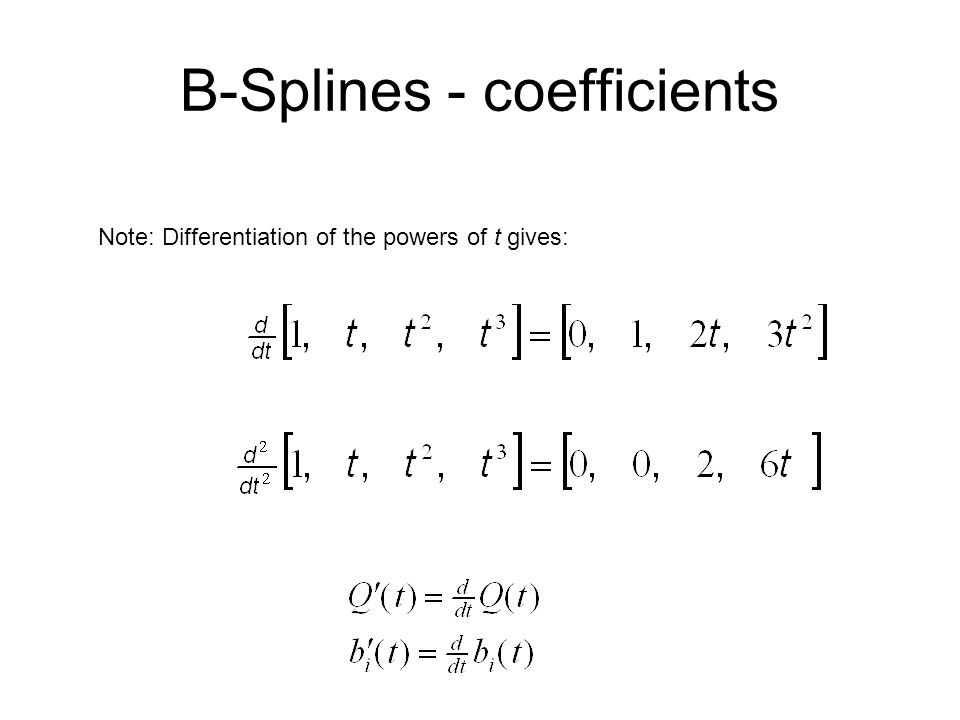 B-Splines - coefficients