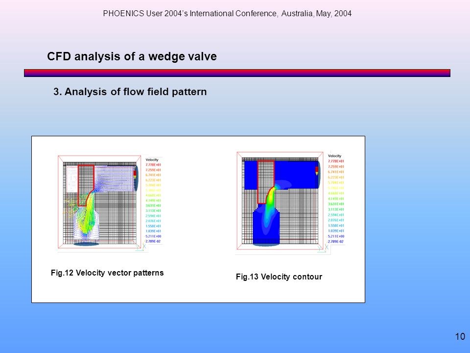 CFD analysis of a wedge valve