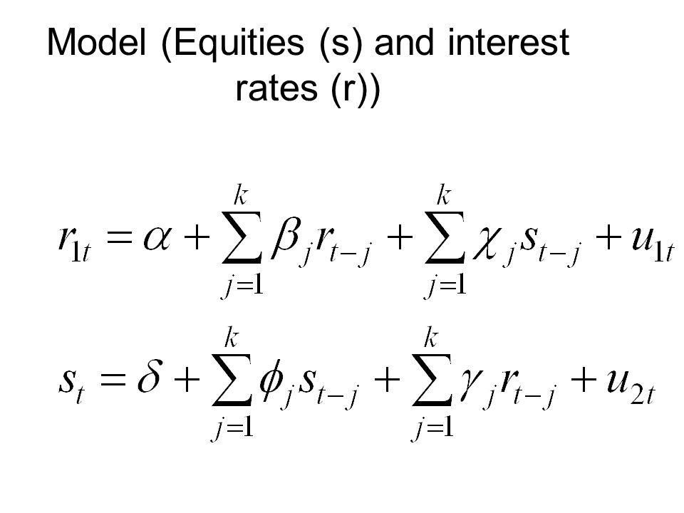 Model (Equities (s) and interest rates (r))