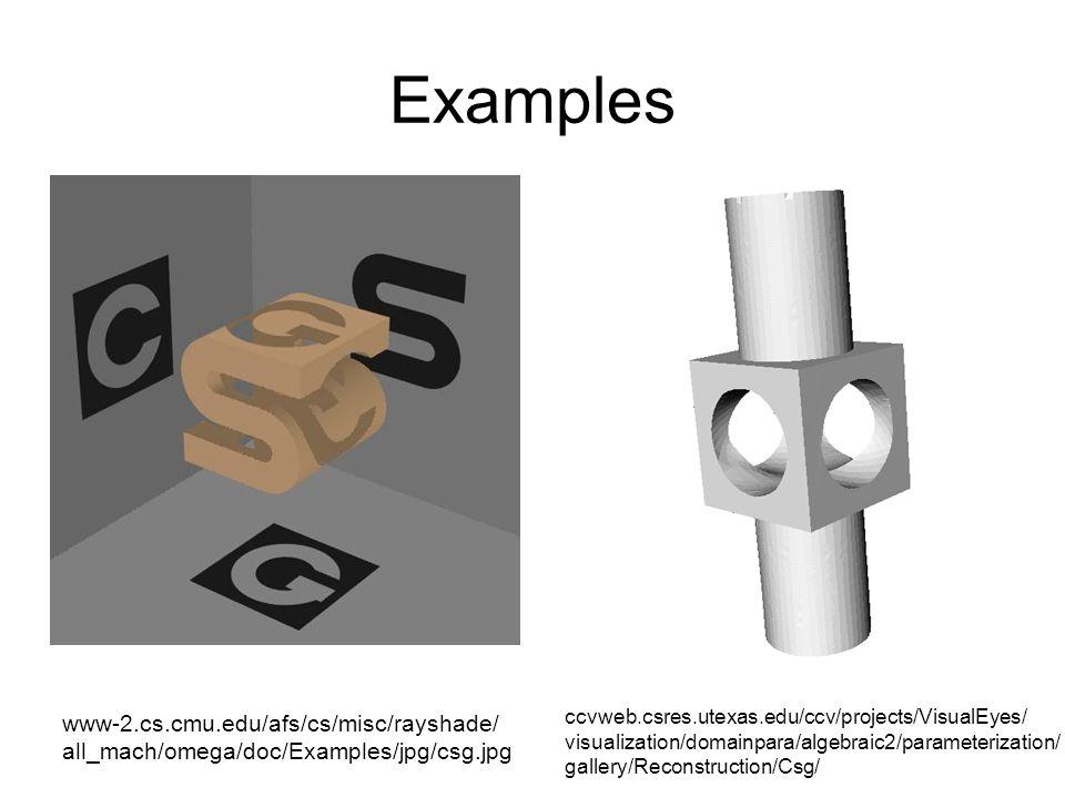 Examples www-2.cs.cmu.edu/afs/cs/misc/rayshade/ all_mach/omega/doc/Examples/jpg/csg.jpg.