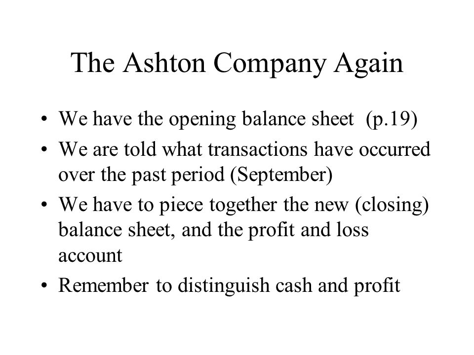 The Ashton Company Again
