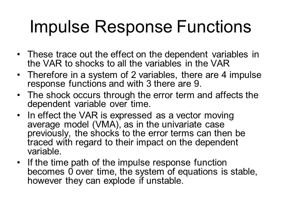 Impulse Response Functions